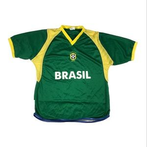 Vintage Brazil Cbf futbol soccer jersey